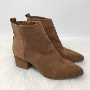 Universal Thread Block Heel Brown Suede Bootie
